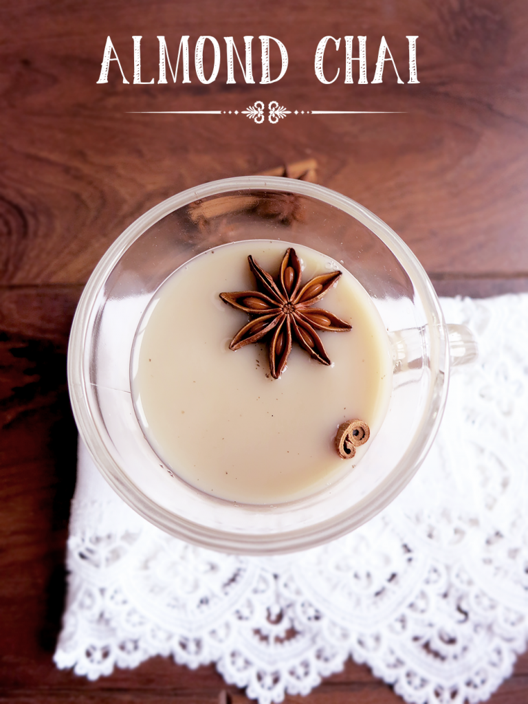 Almond chai latte mit Chai sirup