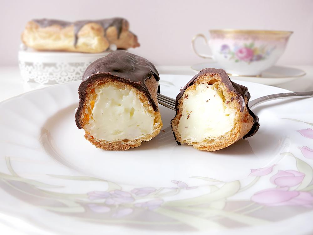 Eclairs mit Füllung Rezept mit Schokolade und Pudding