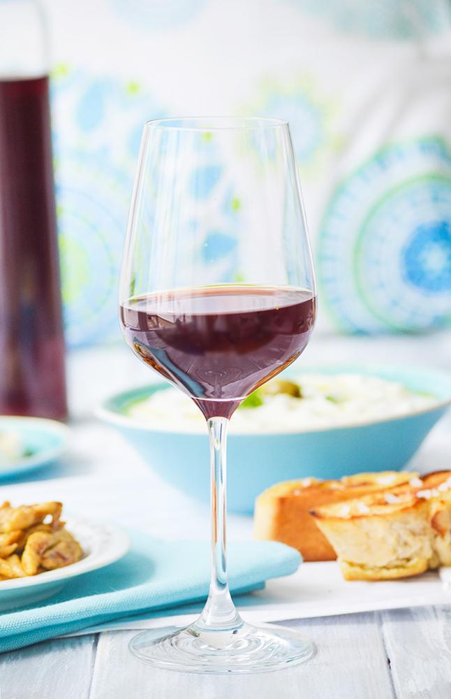 Griechischer Rotwein Glas