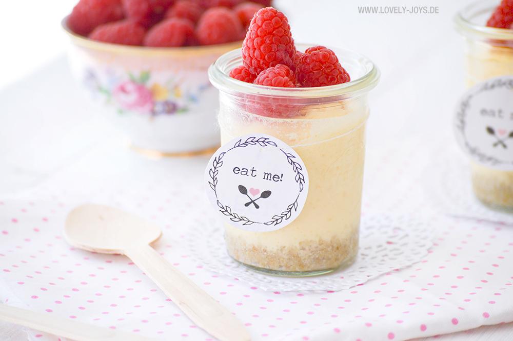 Cheesecake im Glas Rezept Himbeeren