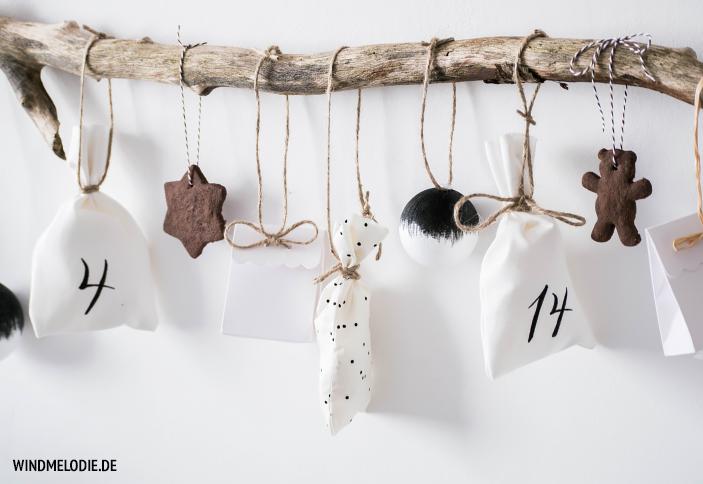 DIY Adventskalender Ideen selber basteln Ast