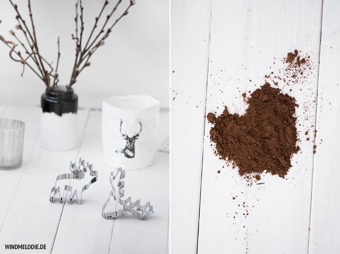 Hirsch Ausstecher Plätzchen Kakao Herz
