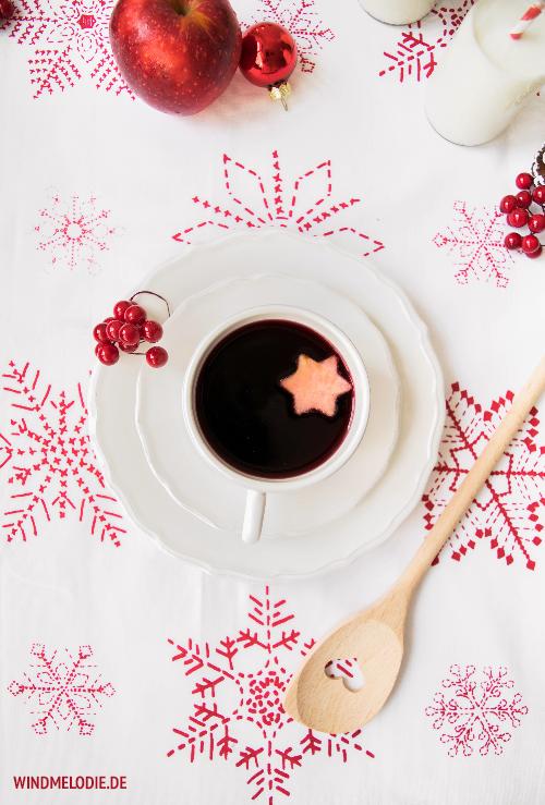 Glühwein Rezept nicht zu süß rot weihnachten deko tisch