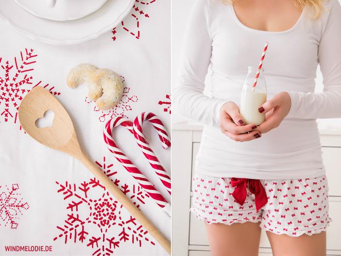 Rot Weihnachten Deko Zuckerstangen Herzkochlöffel