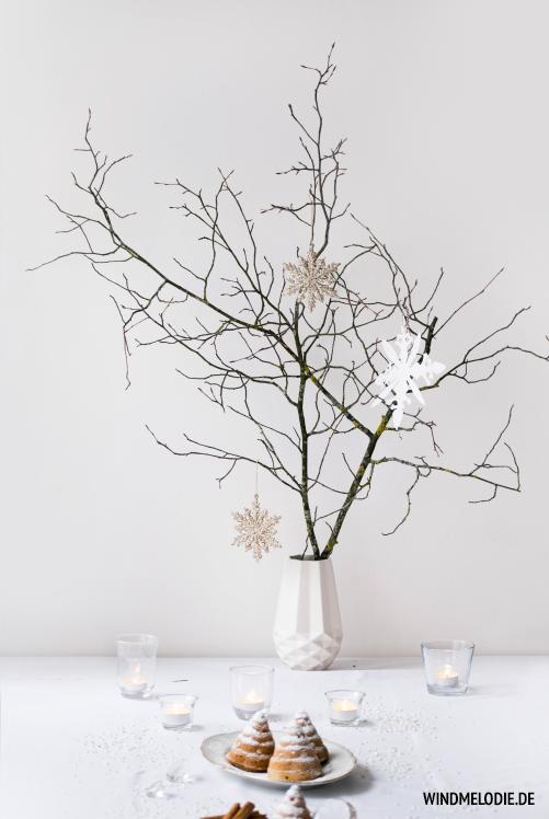 Skandinavisch Weihnachten Dekoration Ast Schneeflocken Basteln