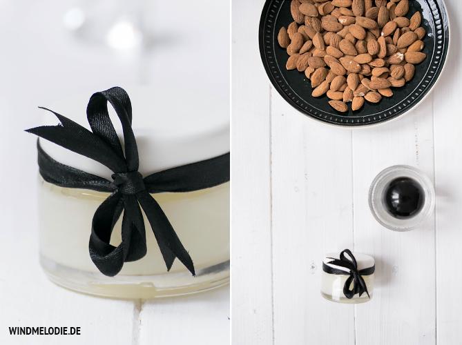 DIY schleife schwarz handcreme mandelöl selber herstellen
