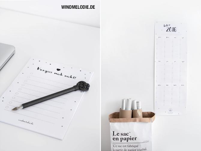 Notizblock ToDo List Konfetti TineK Kugelschreiber Jahreskalender
