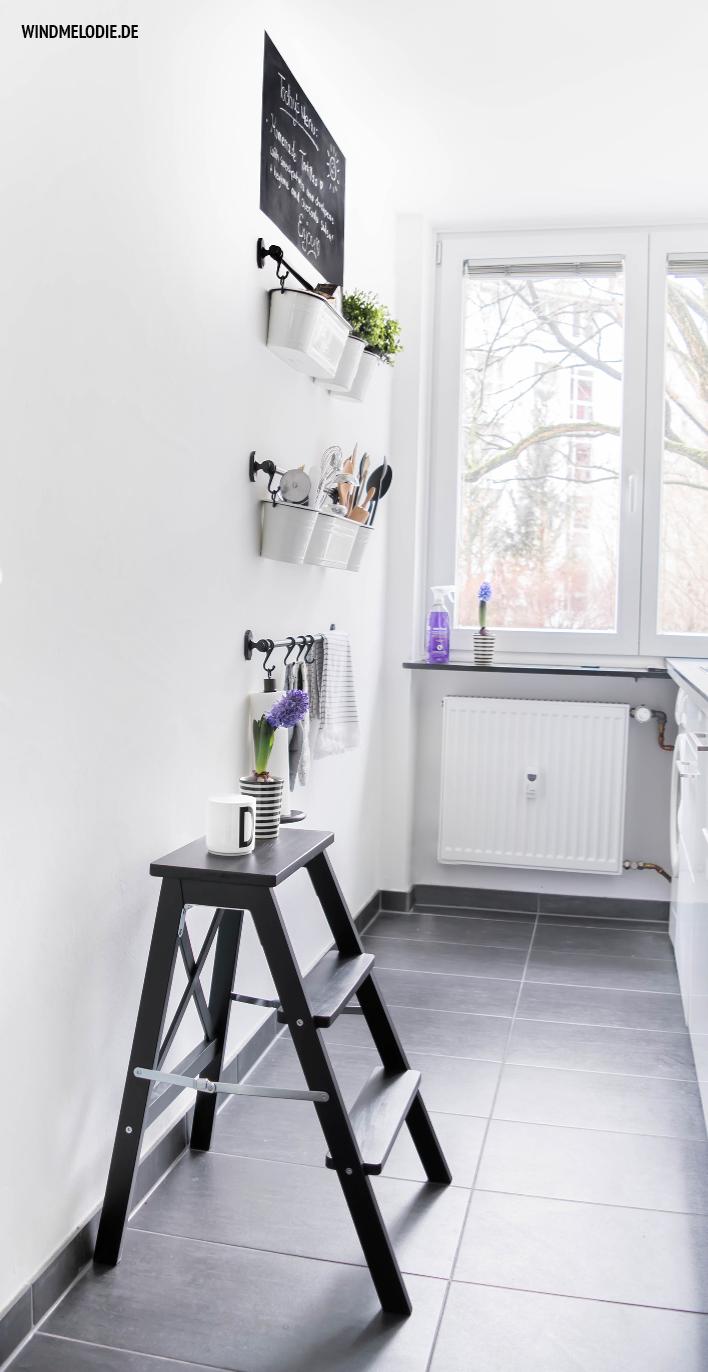 Skandinavisch Einrichtung Küche Ideen schwarz weiß