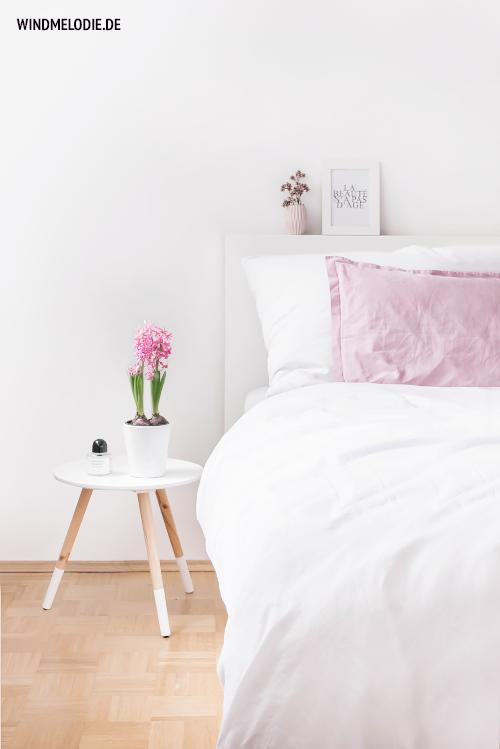 Schlafzimmer weiß rosa