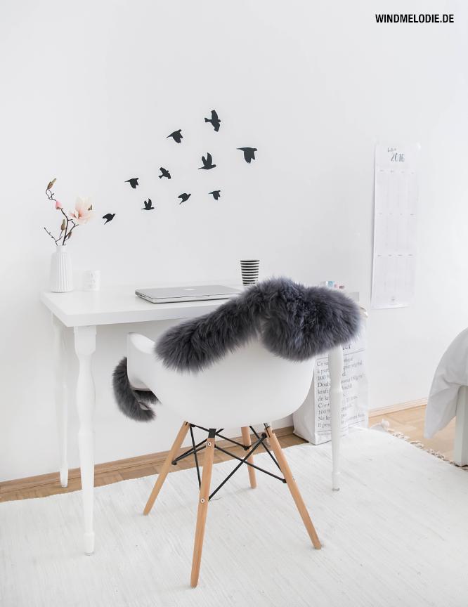 Schreibtisch Arbeitsplatz Minimalistisch skandinavisch Charles Eames Vitra Stuhl