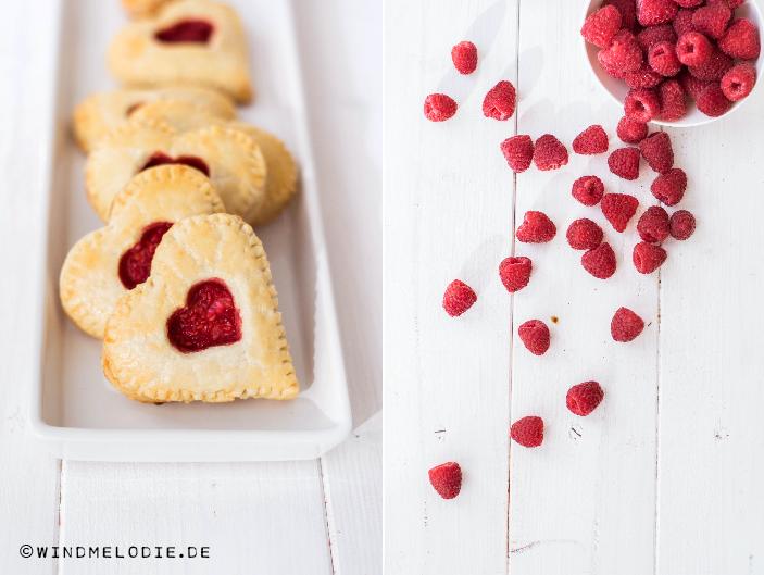 Valentinstag Rezept Idee Mini Pies Herzen Himbeeren