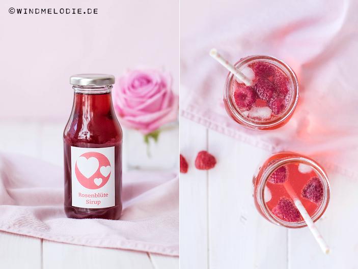 Rsoenlimonade Rezept Rosensirup selber machen