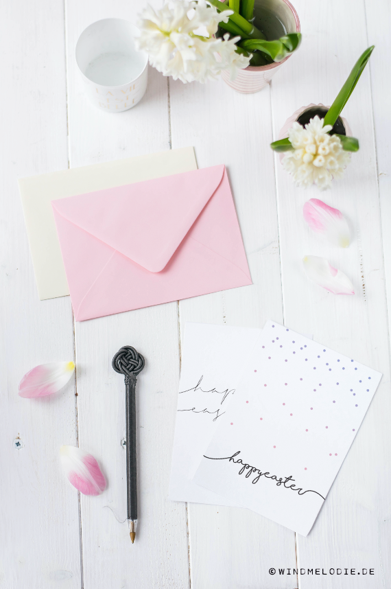 Pastell Kuvert Rosa Osterkarte Kostenlos download