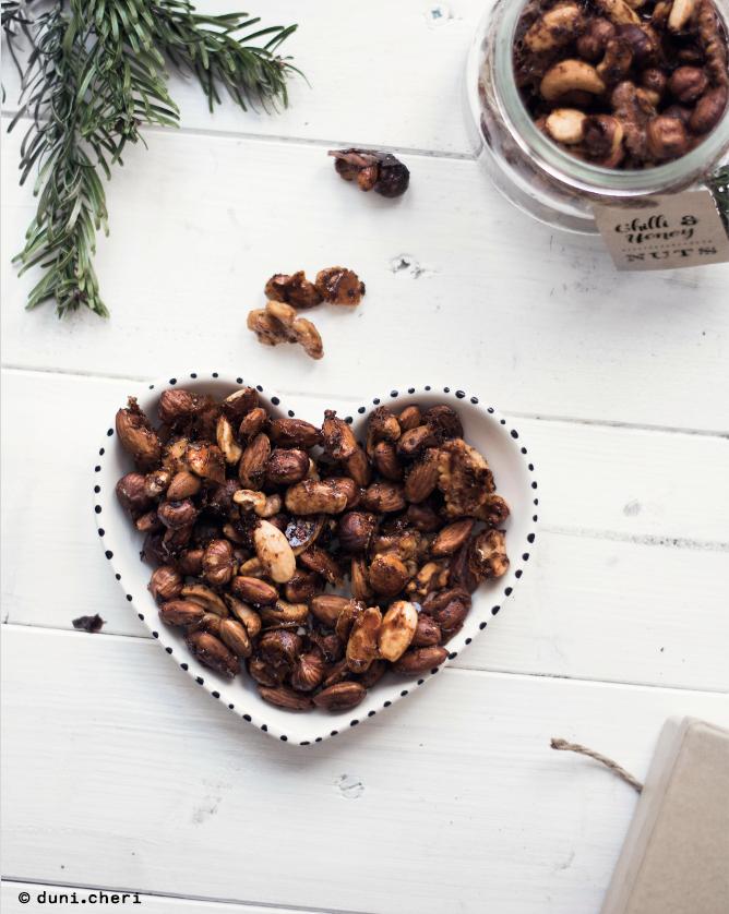 Chilli Honig Nüsse Rezept Snackidee Geschenkidee Weihnachten
