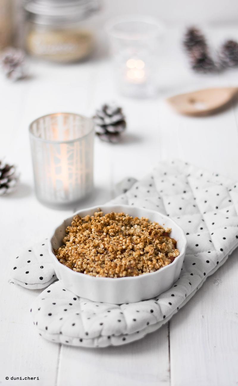 Apple Dessert Kokosöl Quinoa Vegan gesund Rezept