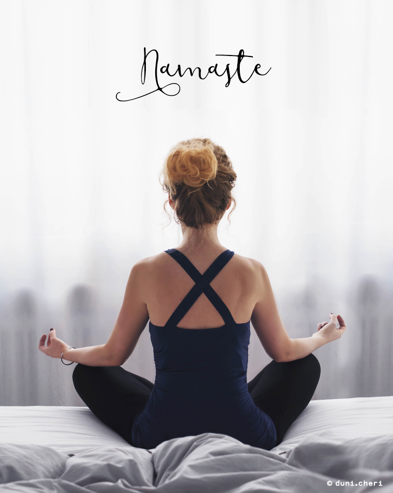 Yoga Pose sitz Frau Yoga Top