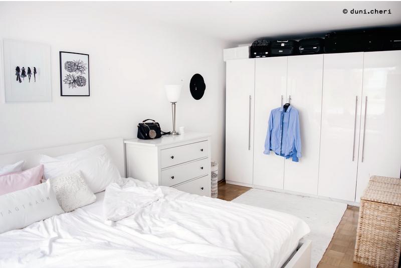 Schlafzimmer Klein Einrichtung Ideen Weiss Skandinavisch