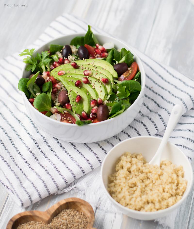 avocado quinoa salat rezept lowcarb