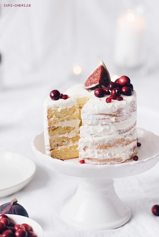 herbst torte rot weiss kuchen naked cake