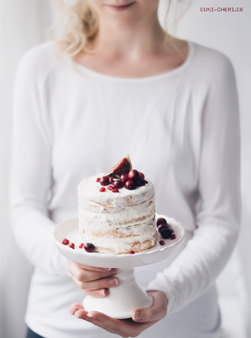 naked cake rezept einfach biskuit buttercreme