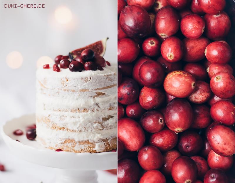 naked cake rezept herbst torte cranberries