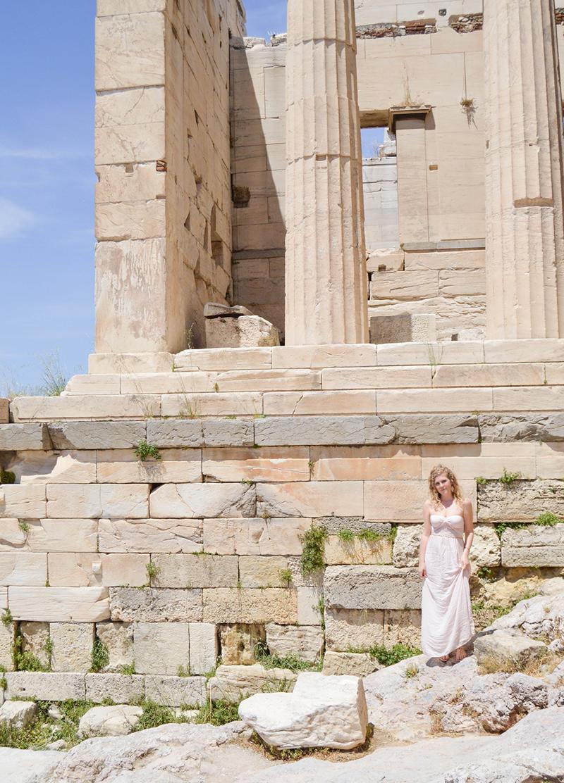 Griechenland Akropolis Mädchen