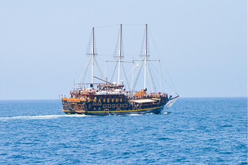 Griechenland Berg Athos Piraten Schiff