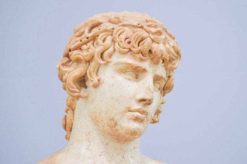 Ruinen Delphi Griechenland Statue
