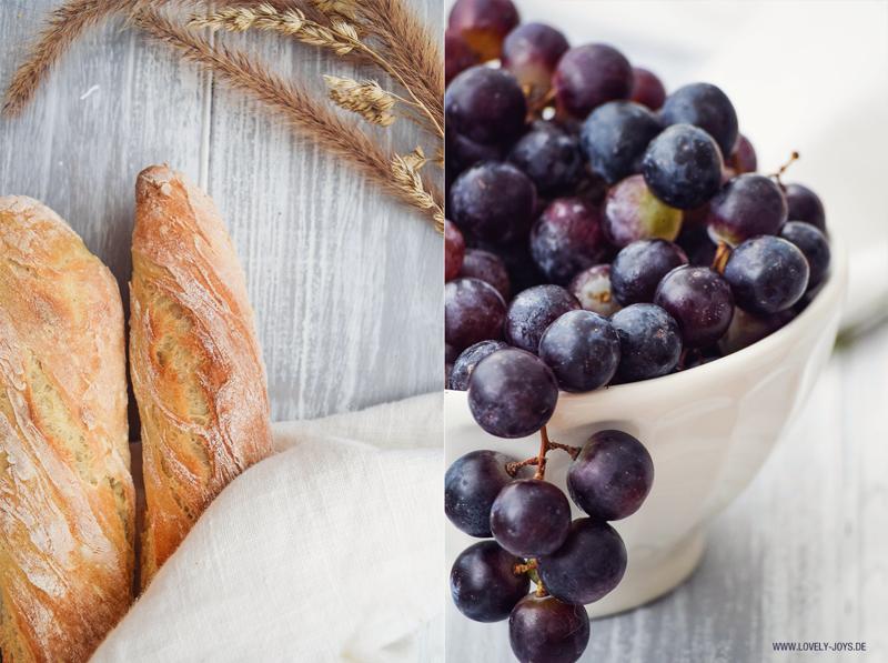 Baguettes Backen Rezept Paris Rusitkal frische Weintrauben