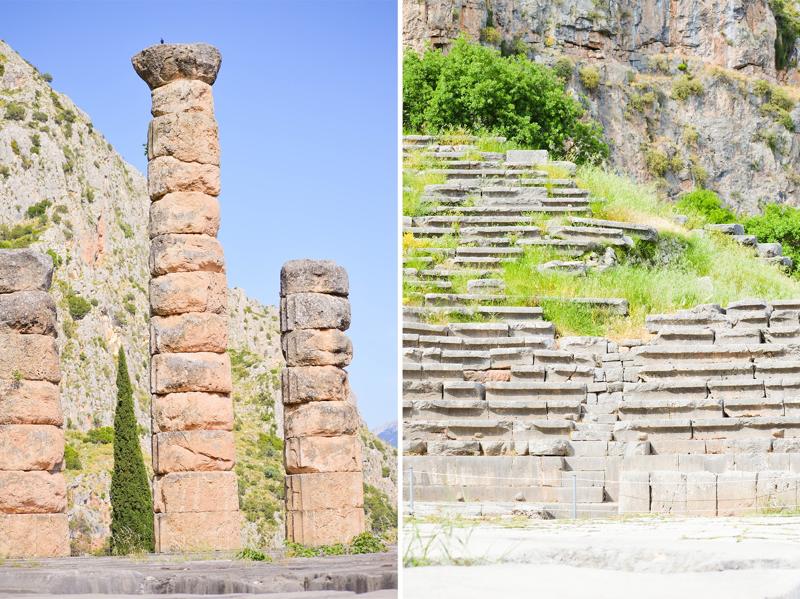 Ruinen Delphi Griechenland