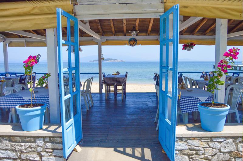 Griechenland Strand Reise Bericht Restaurant