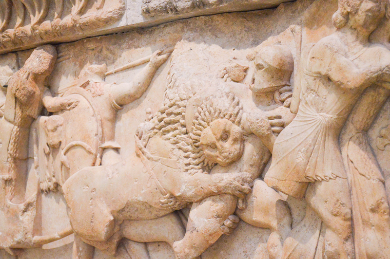 Ruinen Museum Delphi Griechenland