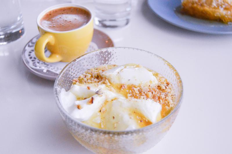 Dessert Griechenland Joghurt Honig Nuss