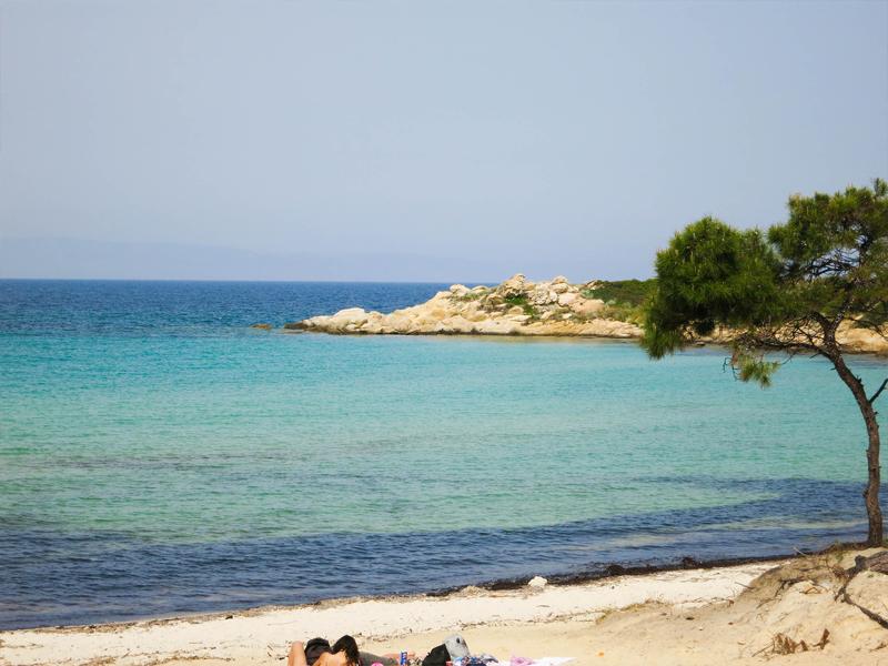 Karidi Beach in Griechenland
