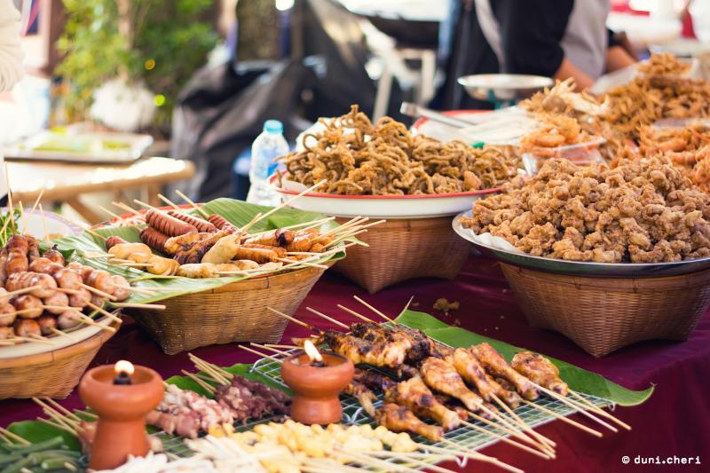 Thailand Essen Straßen Stände