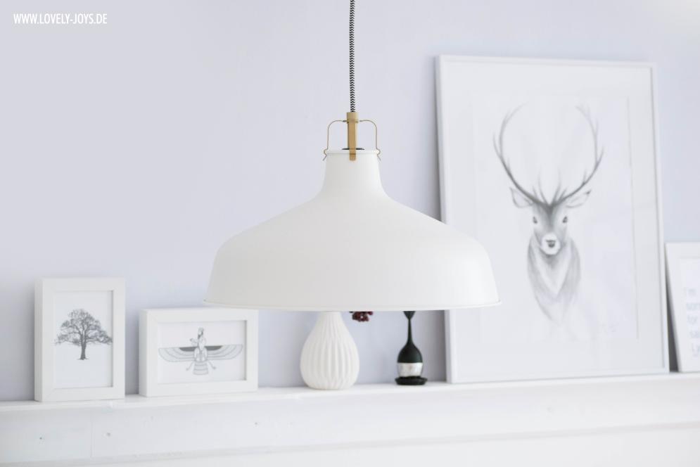 Weiße Lampe Esszimmer nordisch skandinavisch Design