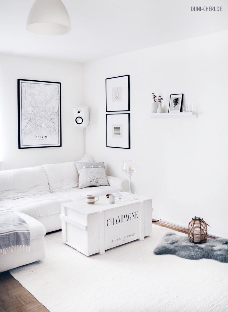 Weisses Wohnzimmer Einrichtung Ideen Minimalistisch Maritim