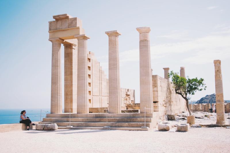 akropolis lindos ruinen