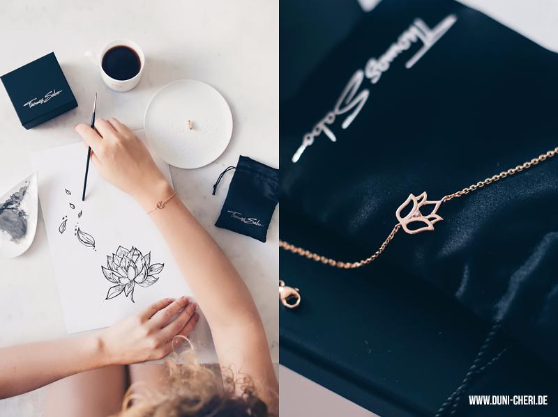 lotus armband rosegold zeichnung