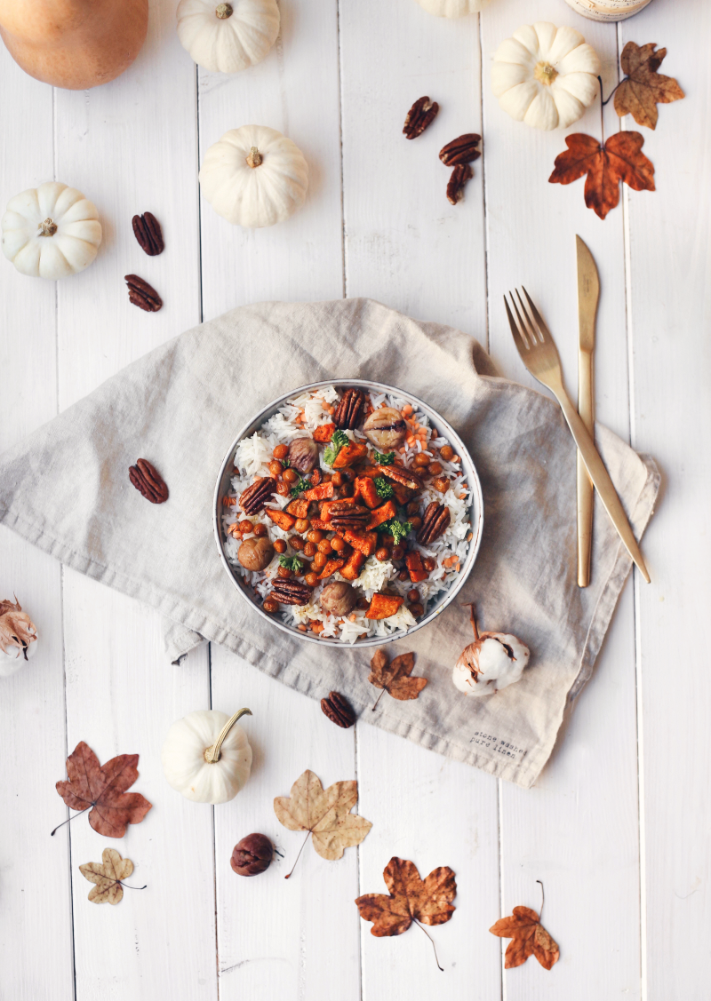 Vegan Herbst Salat Rezept