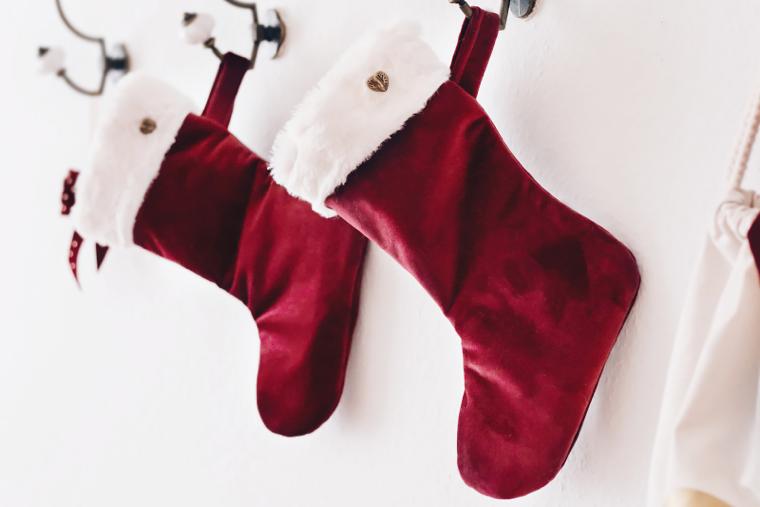 Weihnachtsstrumpf aus Samt selber nähen | DIY Tutorial