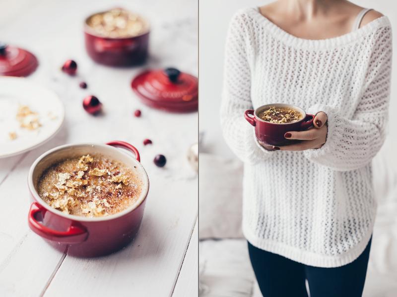 rezept weihnachten gold creme brulee
