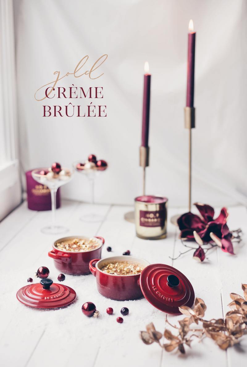 rezept desser weihnachten mit essbarem gold