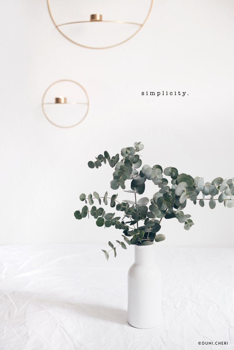eukalyptus vase tisch deko menu