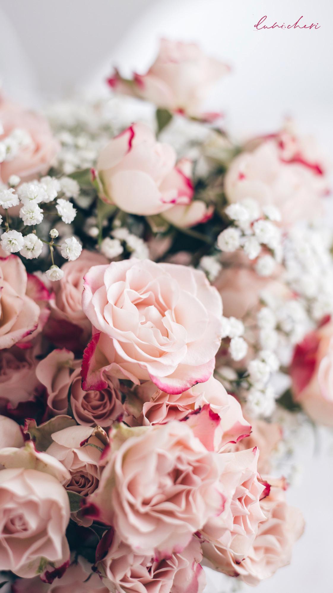 free mobil wallpaper pink flowers