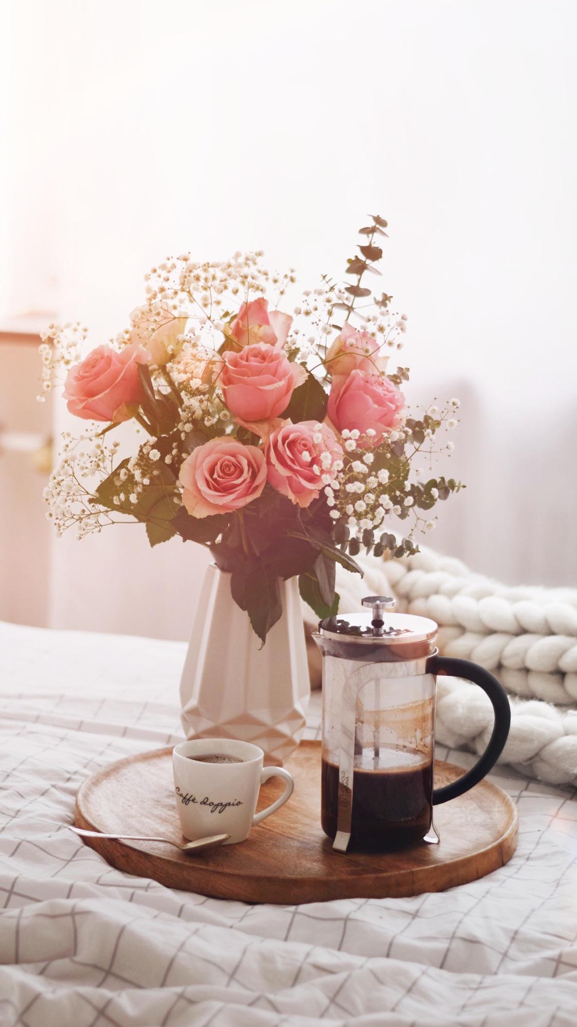 free mobil wallpaper sonne blumen kaffee