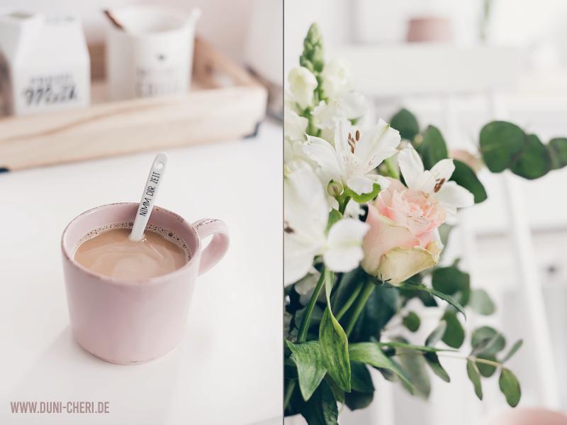 kaffee blumen strauss