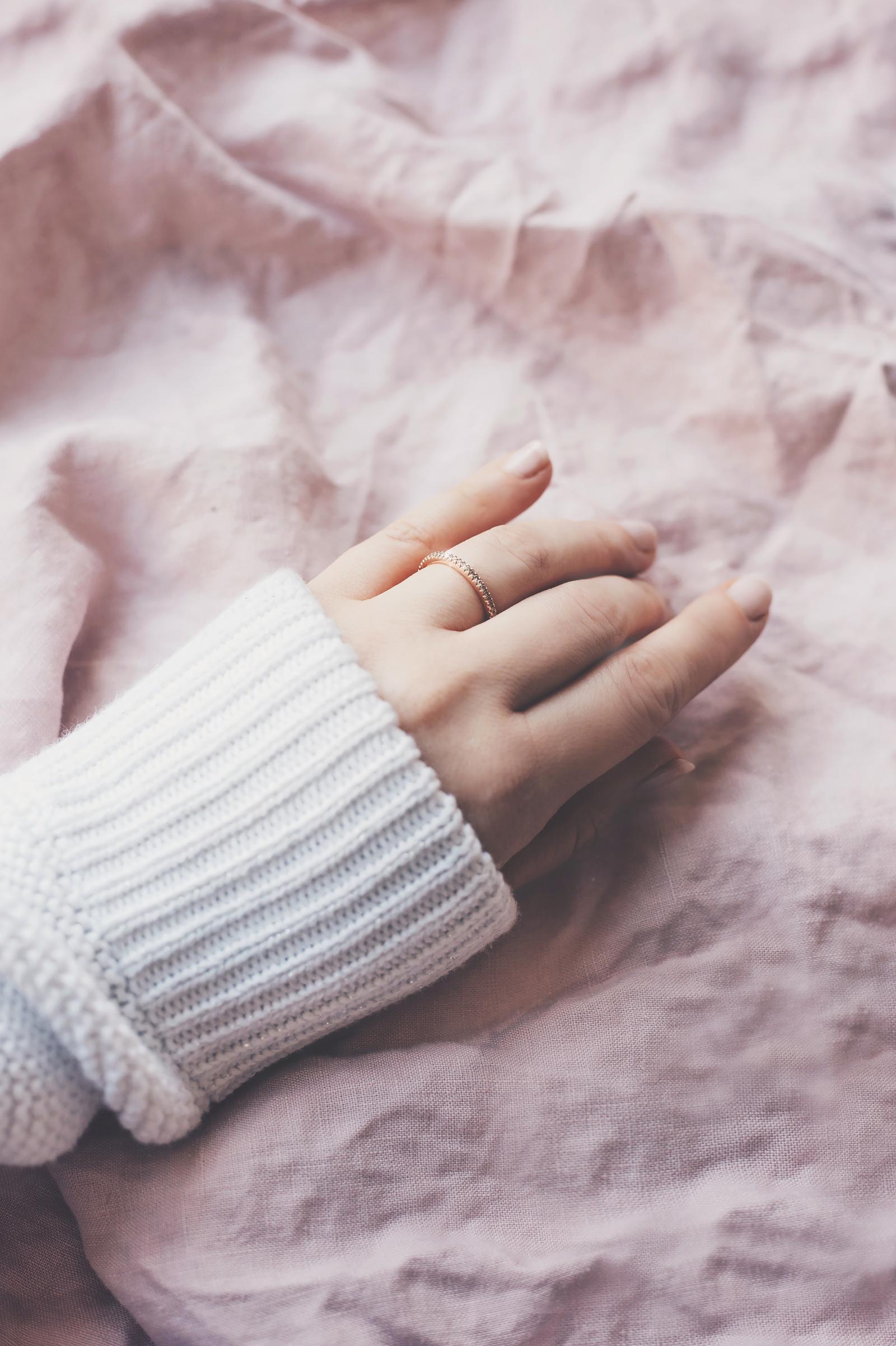 verlobung ring rosegold diamanten