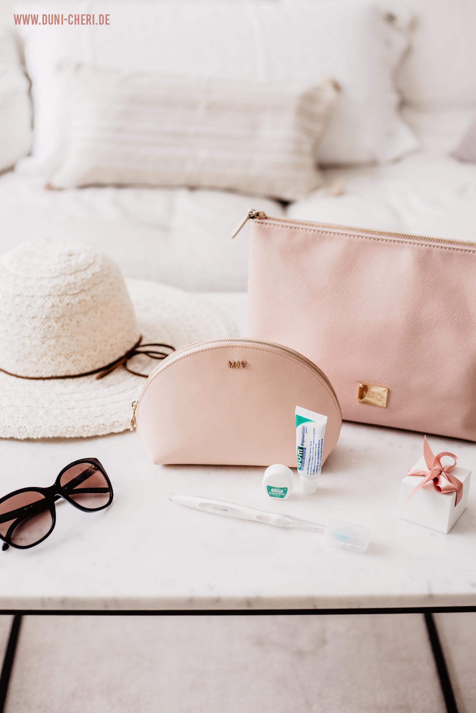 gum travelkit rosa kosmetik tasche