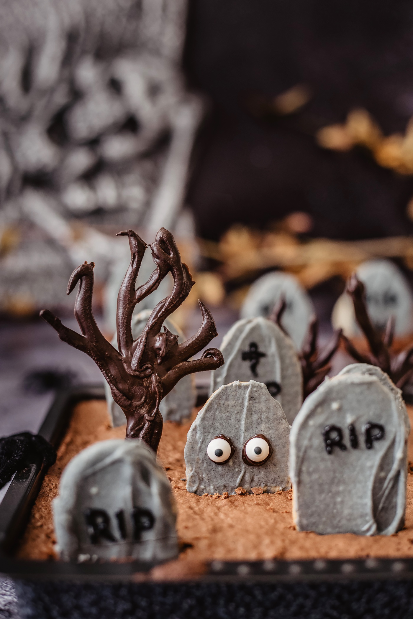 halloween friedhof brownies rezept diy
